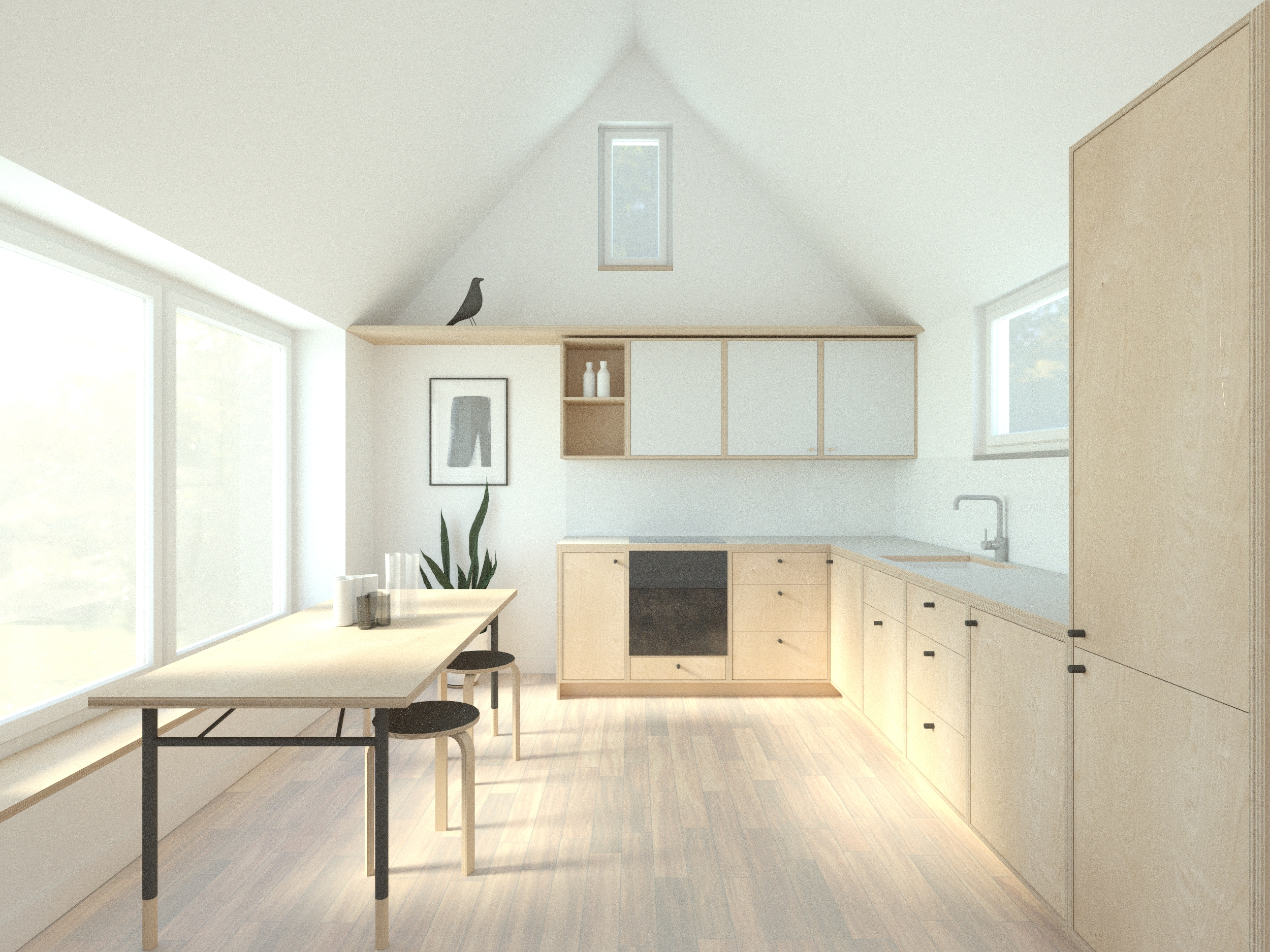Scandi Design Kitchen in Birch Plywood